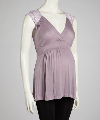 Purple Lace Maternity Tank