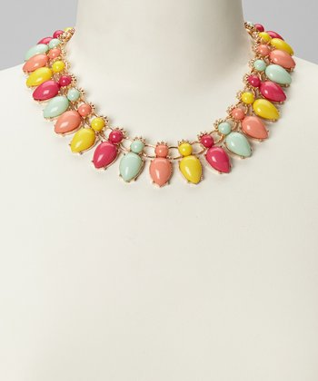 Pink & Yellow Colorful Necklace