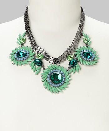 Green & Mint Bib Necklace