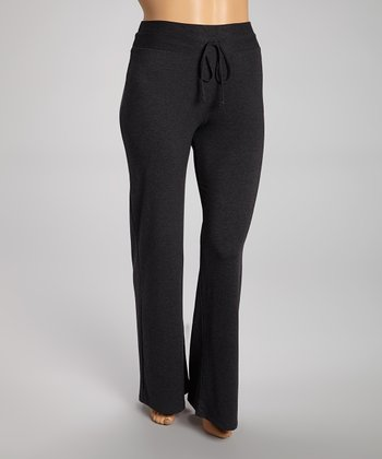 Charcoal French Terry High-Waisted Lounge Pants - Plus