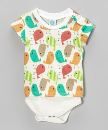 Green & Brown Jelly Bird Bodysuit