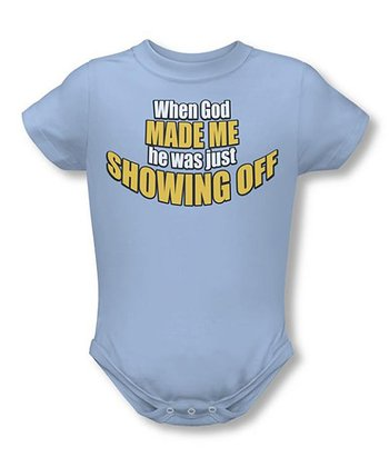 Light Blue 'Showing Off' Bodysuit - Infant