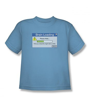 Light Blue 'Brain Loading' Tee - Toddler & Boys