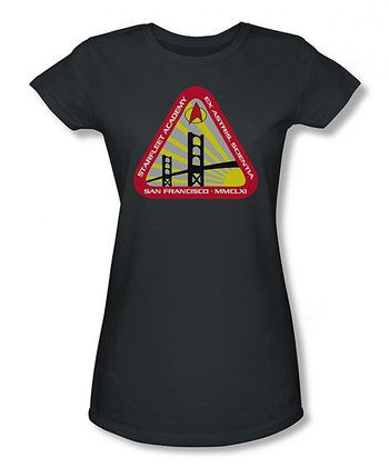 Charcoal Starfleet Academy Sheer Tee - Women & Plus