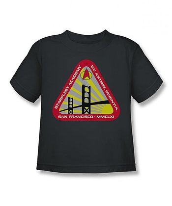 Charcoal Starfleet Academy Tee - Toddler & Boys