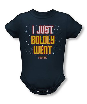 Navy 'I Just Boldly Went' Bodysuit - Infant