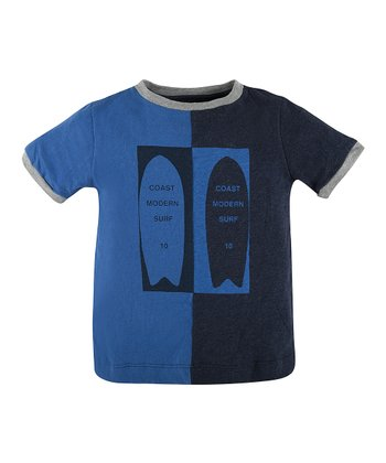 Black & Blue Two-Tone Tee - Infant & Boys