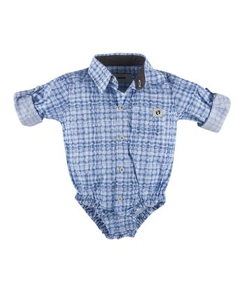 Blue Crush Button-Up Bodysuit - Infant
