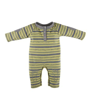 Sandy Beach Stripe Henley Romper - Infant