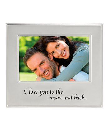 Silver 'I Love You to the Moon' Frame