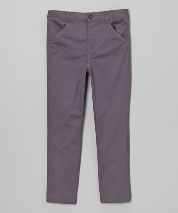 Gray Twill Pants - Infant, Toddler & Boys