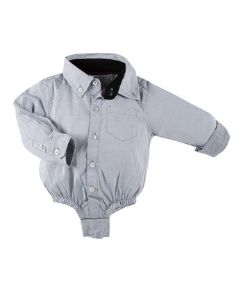 Gray Oxford Bodysuit - Infant