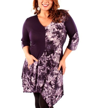 Purple Tie-Dye Tunic - Plus