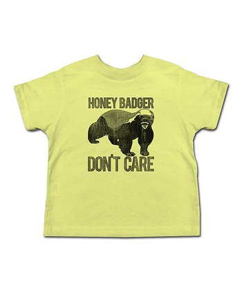 Banana 'Honey Badger Don't Care' Tee - Toddler & Kids
