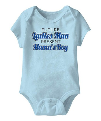 Blue 'Mama's Boy' Bodysuit - Infant