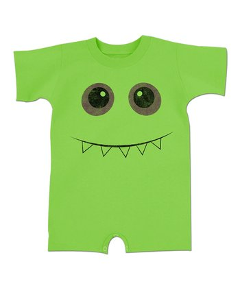 Key Lime Toothy Smile Monster Romper - Infant