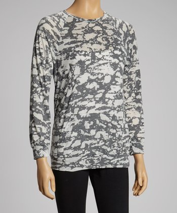Gray Abstract Pocket Top - Women & Plus