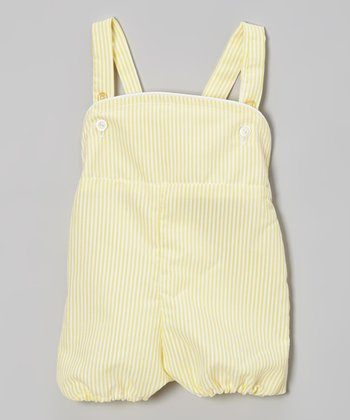 Yellow Stripe Shortalls - Infant