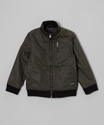 Olive Bunker Jacket - Boys