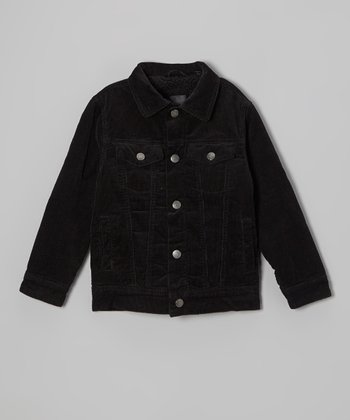 Black Cord Jacket - Toddler & Boys