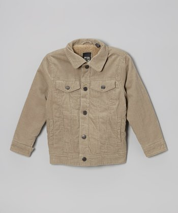Khaki Cord Jacket - Toddler & Boys
