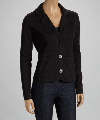 Black Button-Up Blazer