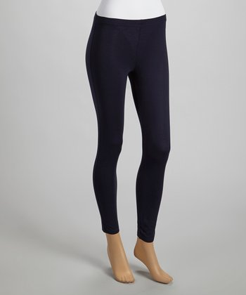 French Navy Ankle-Length Leggings