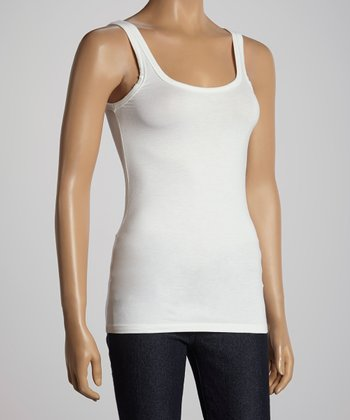 White Scoop Neck Tank