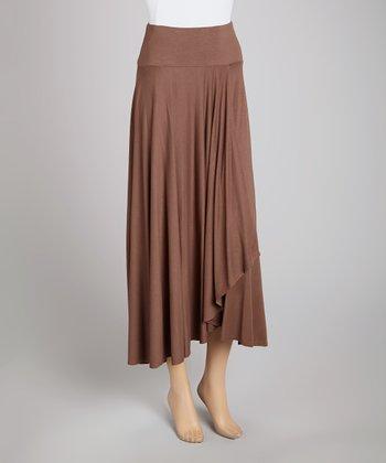 Bronze Faux Wrap Skirt