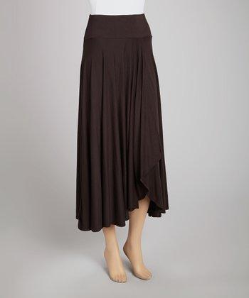 Black Faux Wrap Skirt