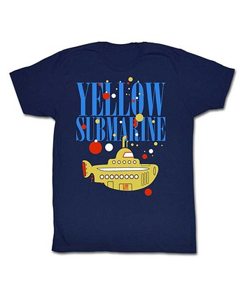 Navy 'Yellow Submarine' Tee - Adult