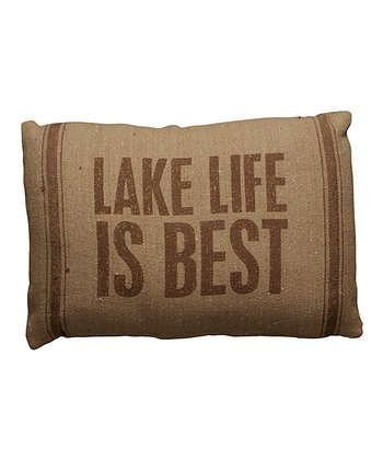 'Lake Life is Best' Throw Pillow