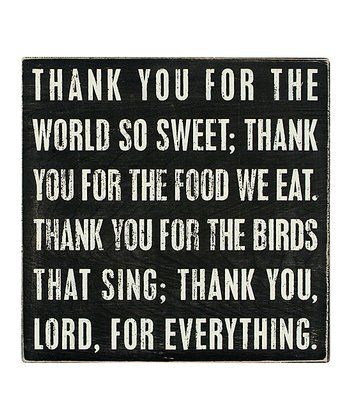 Black 'Thank You Lord' Box Sign