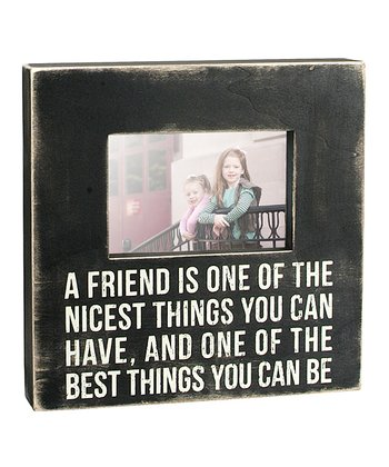 Black 'A Friend Is One' Picture Frame