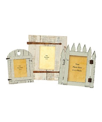 Garden Gate Picture Frame Set