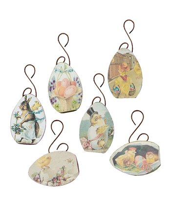 Easter Egg Vintage Ornament Set