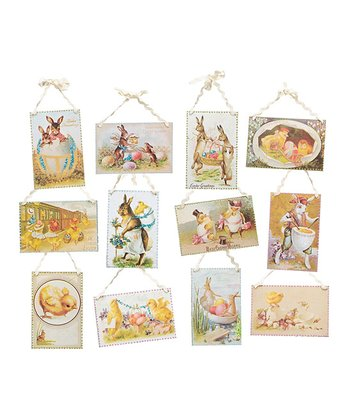Easter Postcard Wall Art Set
