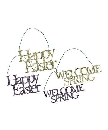Easter Word Ornament Set