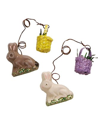 Bitsy Bunny Ornament Set
