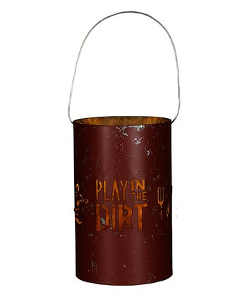 'Play in the Dirt' Tin Lantern
