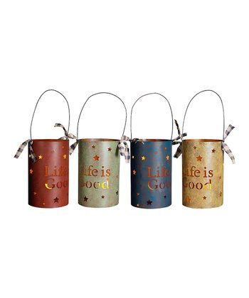 Primary 'Life is Good' Lantern Set