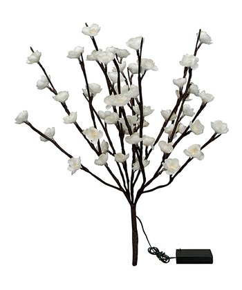 Large Cream Cherry Blossom Light-Up Twig