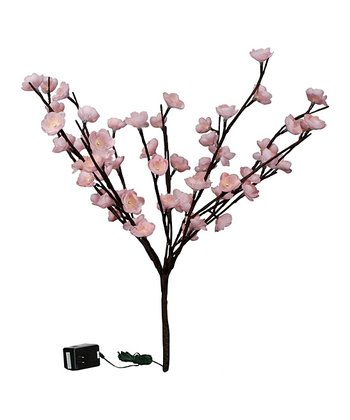 Pink Cherry Blossom Light-Up Twig
