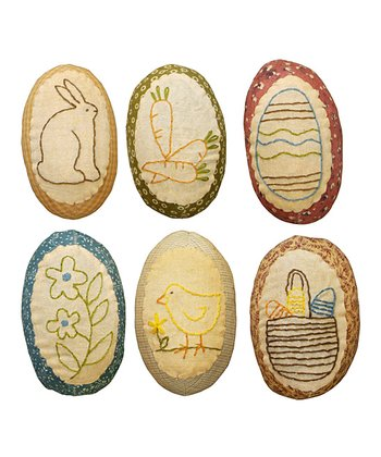 Small Spring Fabric Decorative Egg Set