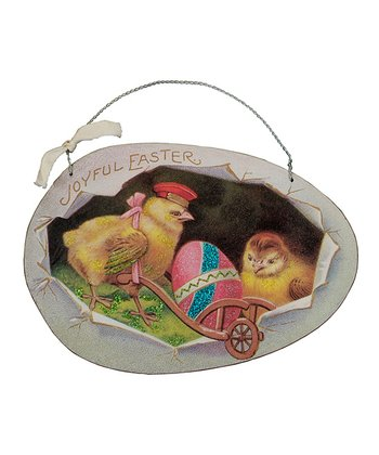Easter Vintage Egg Sign