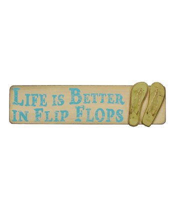'Life Is Better In Flip Flops' Wall Art
