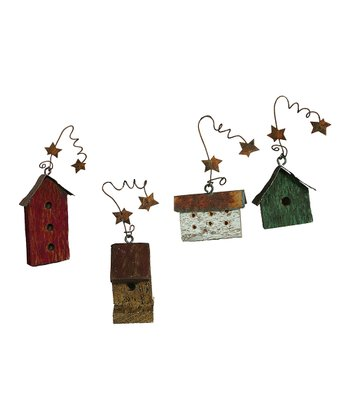 Mini Birdhouse Ornament Set