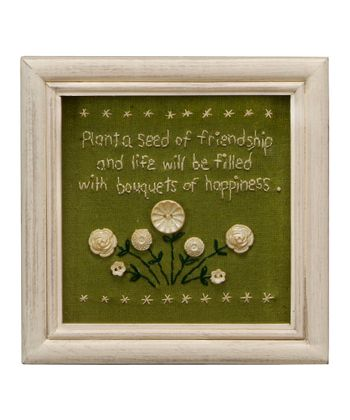Green 'Plant a Seed' Wall Art