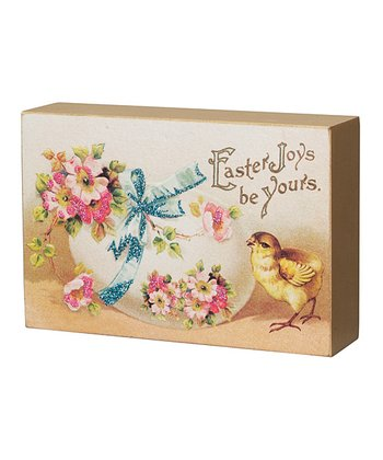 Easter Joys Vintage Box Sign