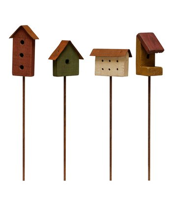 Country Birdhouse Pick Set